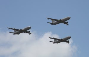 Refuelling in the air missions through the use of KC 767's